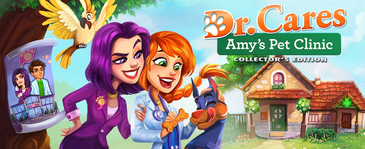 Dr. Cares: Amy's Pet Clinic Collector's Edition - Will Amy find a cure for the epidemic? - image