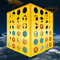 Fantastic 4 In A Row 2 - Connect 4 in a row vertically, horizontally or diagonally across multi-sided game boards in this new version of the game. Play Fantastic 4 In A Row 2! - logo