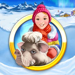 Farm Frenzy 3 - Ice Age - Chill out with Farm Frenzy 3 - Ice Age, featuring 90 levels of frosty fun! - logo