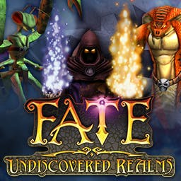 FATE: Undiscovered Realms - New evil threatens new realms, hero - your epic journey is far from over. - logo