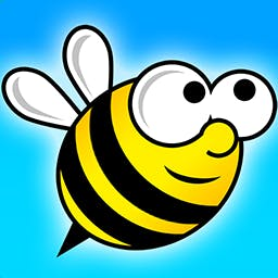 Flappy Bee - Fly through the bee's nest and try not to get stung in the arcade game Flappy Bee. Will you dodge the honeycomb? - logo