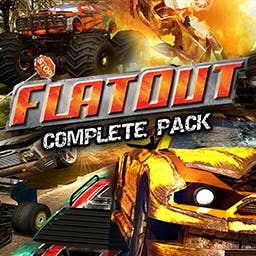 Flatout Complete Pack - This bundle includes the following titles: FlatOut, FlatOut 2, FlatOut 3, and FlatOut Ultimate Carnage - logo