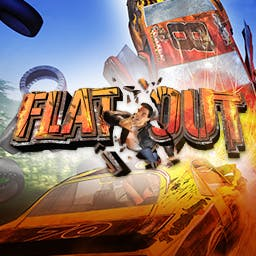 FlatOut - FlatOut is adrenaline-filled muscle car racing game packed with explosive physics. - logo