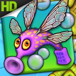 Fling A Thing HD - Fling a Thing Plus is a simple and fun game where you stretch and fling adorable little creatures into the air to collect bubbles. - logo