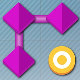 FlowDoku - Link shapes instead of numbers in this fun and clever twist on Sudoku that was perfectly designed for touch screens.  It's FlowDoku! - logo