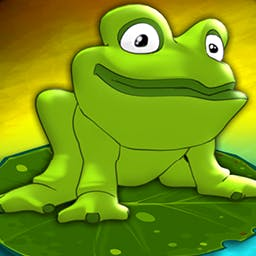 Frogs vs. Storks - Leap across lily pads to survive! Frogs vs. Storks is a fun strategy-puzzle game for all ages. Play today! - logo