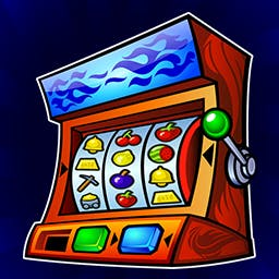 Fruit Machine Deluxe - The aim of the game is to win big!  Spin the reels, hold nudges, match the fruit and hit the big jackpot in Fruit Machine Deluxe! - logo