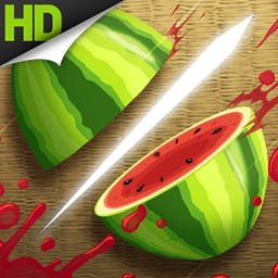 Fruit Ninja HD - * Editor's Pick * Fruit Ninja is a juicy action game with squishy, splattery, satisfying fruit carnage!  It's also the original Android slasher game! - logo