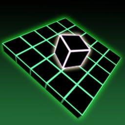 Geo Fall - En el juego arcade Geo Fall, cada piso tiene un panel que falta. Tu objetivo es hacer caer tu cubo a través de él antes de que el tiempo se agote. - logo