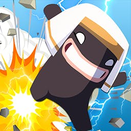 Gods vs Humans - In the funny strategy game Gods vs Humans, you must stop the humans from building a tower that will reach your home, the Kingdom of the Gods. - logo