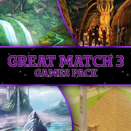 Great Match-3 Games Pack - This bundle includes Runefall, Silver Tale, Robin´s Island Adventure, and Hexus - logo
