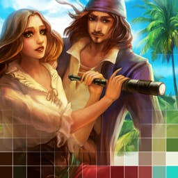 Griddlers Legend Of The Pirates - Live a life of a courageous pirate right now in the game Griddlers: Legend Of The Pirates! Welcome to the age of piracy! - logo
