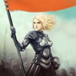 Heroes from the Past: Joan of Arc - Join Joan of Arc on her epic journey in the match 3 game Heroes from the Past: Joan of Arc! - logo