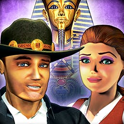 Hide and Secret HD: Pharaoh's Quest - Travel to undiscovered pyramids to solve a hidden object mystery. Reunite an ancient Queen and her Pharaoh in Hide and Secret: Pharaoh's Quest. - logo