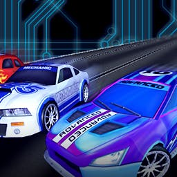 HTR+ Slot Car Simulation - HTR+ Slot Car Simulation is a virtual version of the classic toy from the 80s and 90s. Race the track with realistic physics. - logo
