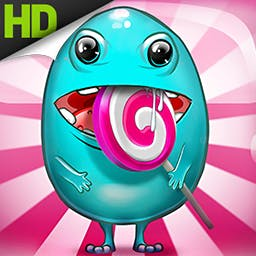 Hungry Mouth HD - All a monster wants in life is to be big and happy... and to avoid capture!  Help this cute little guy with his goals in Hungry Mouth. - logo