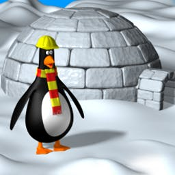 Icy Spell - Unscramble ice blocks to help Icy build his igloo. - logo