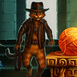 Indy Cat - Go on an incredible adventure with Indy Cat in this addictive match 3 game! - logo