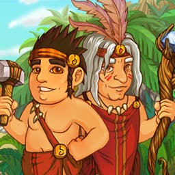 Island Tribe - Help guide your Island Tribe safely away from an erupting volcano! - logo