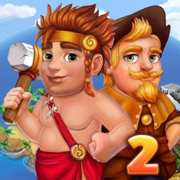 Island Tribe 2 - Collect resources, construct and repair buildings, and overcome new obstacles in Island Tribe 2! - logo