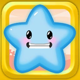Jelly All Stars - Make bigger and bigger jellies by matching colors and then pop them with stars in the adorable puzzle game Jelly All Stars! - logo