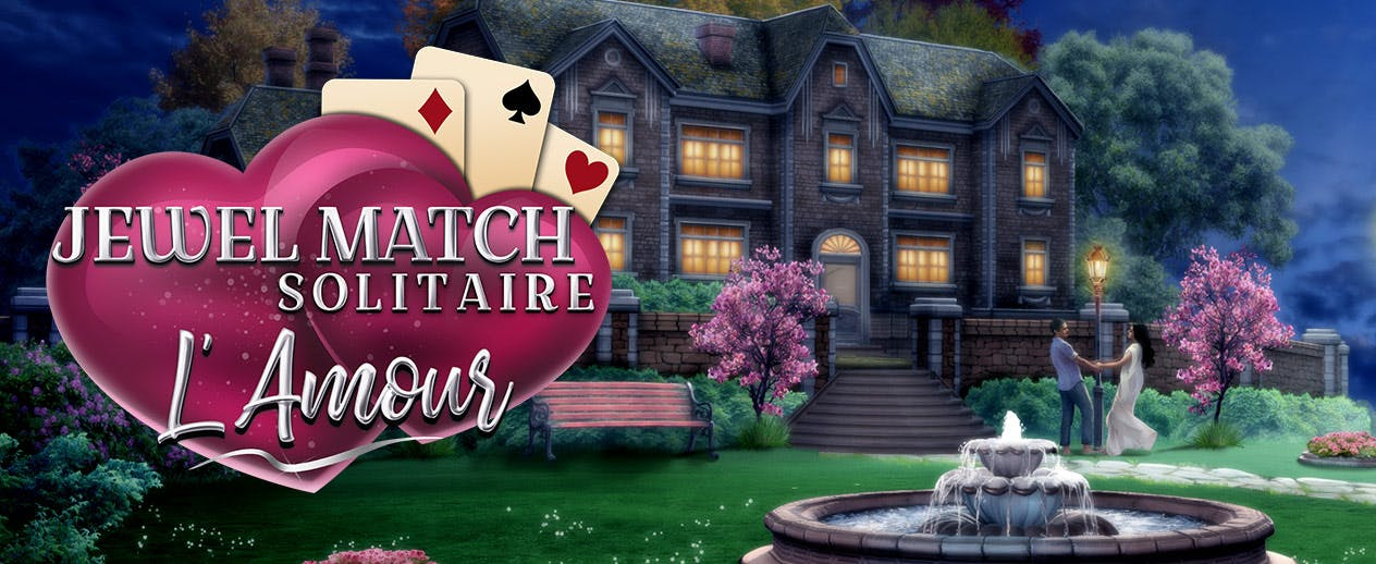 Jewel Match Solitaire: L'Amour - Love is in the air. - image