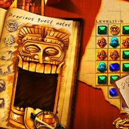Jewel Quest - Match 3 jewels or more and turn sand into gold in the original Jewel Quest! - logo