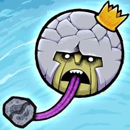 King Oddball - King Oddball is ready to destroy the world by throwing boulders... with his mouth!   Squash the puny humans in this physics-based puzzler! - logo