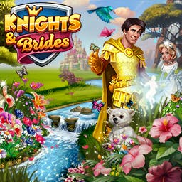 Knights and Brides - Become either a mighty knight or a clever princess in Knights and Brides, an online simulation game. - logo