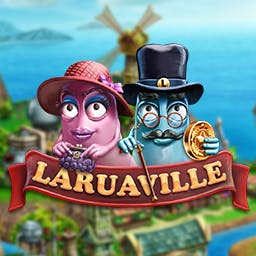 Laruaville - Friendly and cheerful ghosts need your help in this new, breathtaking combination of match-3, hidden objects, and puzzles.  Play Laruaville! - logo