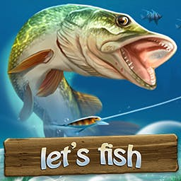 Let's Fish - Play with your friends and compete online in this beautiful fishing simulation. Let's Fish! - logo
