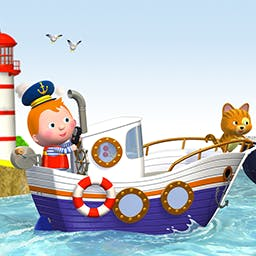 Little Boy: Bo's Boat - Head out to sea for a fishing trip with Bo and his cat, Noah, in Little Boy: Bo's Boat, an interactive story for preschoolers! - logo