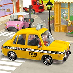 Little Boy: Sandy's Taxi - Little Boy: Sandy's Taxi is based on the popular 'Little Boy' books! Your child will drive around the city with Sandy in his yellow taxi! - logo