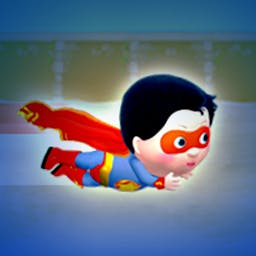 Little Hero: Super Hero - You preschooler can become a super hero! Save cats, balloons and the town in Little Hero: Super Hero. - logo