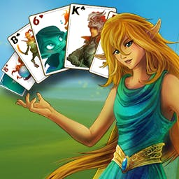 Magic Cards Solitaire - Embark on an adventure and help a small elf get back home in Magic Cards Solitaire! - logo