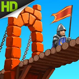 Medieval Bridge Constructor - Build sturdy bridges to bring in supplies or build bridges that collapse under attacking troops to protect your city in Medieval Bridge Constructor. - logo