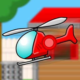 Microcopter - Pilot a small radio-controlled helicopter and maneuver it through all parts of the house to pick up objects! Play Microcopter today! - logo