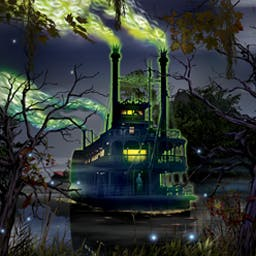 Midnight Mysteries: Devil on the Mississippi - Midnight Mysteries: Devil on the Mississippi is a hidden object game starring Mark Twain's ghost that features a controversial new mystery! - logo