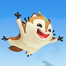 Momonga Pinball Adventures - Momonga Pinball Adventures is a different kind of pinball. Instead of regular cabinets, you bounce a flying squirrel through different levels. - logo