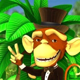 Monkey Money 2 Slots - The monkey is back, and he's brought a tuxedo! Play Monkey Money 2 Slots on Android today! - logo