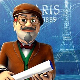 Monument Builders: Eiffel Tower - Can you construct Paris' most iconic building?  Improve Parisian neighborhoods and manage your resources in Monument Builders: Eiffel Tower. - logo
