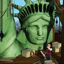 Monument Builders: Statue of Liberty - Take charge of building the iconic Statue of Liberty in Monument Builders: Statue of Liberty, a time management game. - logo