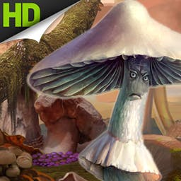 Mushroom Age - Are you ready to visit the Jurassic, the Stone Age and the far future? The hidden object game Mushroom Age will take you on a wild ride through time! - logo