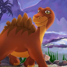 My Jurassic Farm - Have you ever wanted to raise dinosaurs? Play the time management game My Jurassic Farm today! - logo