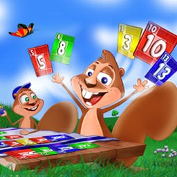 Nertz Solitaire - Nertz® Solitaire is a new twist on the classic with a squirrelly family! - logo