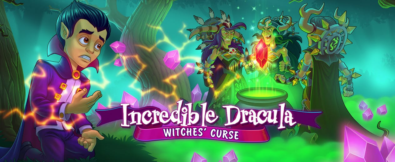 Incredible Dracula: Witches' Curse - Stop three witches from ending all magic - image