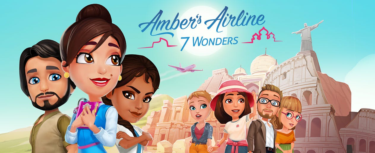 Amber's Airline: 7 Wonders - Join Amber and the girls - image