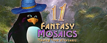 Fantasy Mosaics 11: Fleeing from Dinosaurs - image
