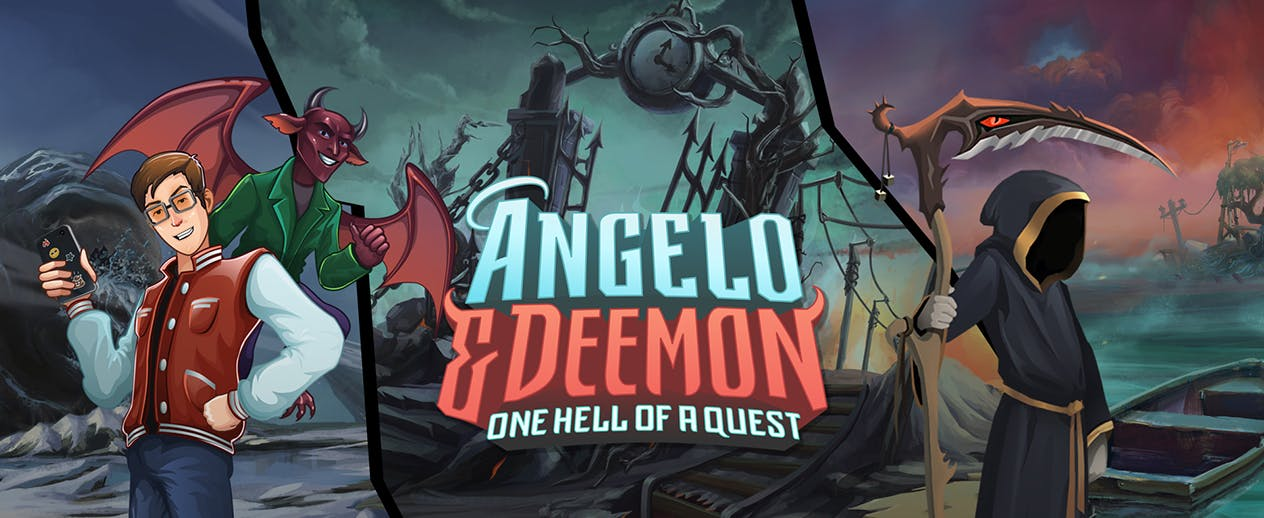 Angelo and Deemon: One Hell of a Quest - Enjoy Hell! We made it just for you. - image