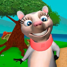 Pamela Possum Goes To Letter Land 2 - Coloring, playing games and putting together puzzles makes learning the alphabet fun in Pamela Possum Goes To Letter Land 2! - logo